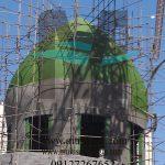 عایق کاری کردن گنبد مسجد